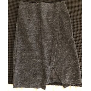 NWT Grey Pencil Skirt with Slit